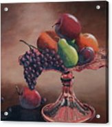 Mom's Pink Dish With Fruit Acrylic Print