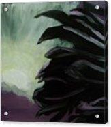 Moon Behind The Palm Tree Acrylic Print