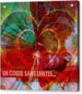 Mon Coeur - My Heart Acrylic Print