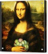 Mona Lisa Easter Bunny Acrylic Print