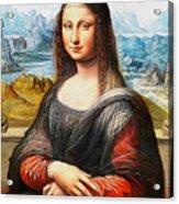 Mona Lisa Painting Acrylic Print