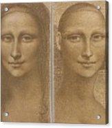Mona Lisa Past and Present Acrylic Print