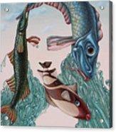 Mona Lisa. Water Acrylic Print