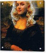 Mona Marilyn Acrylic Print