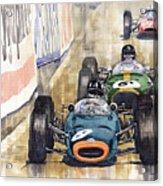 Monaco Gp 1964 Brm Brabham Ferrari Acrylic Print
