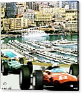Monaco Grand Prix Racing Poster - Original Art Work Acrylic Print