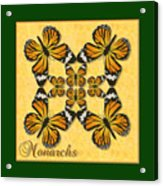 Monarch Butterfly Pin Wheel Acrylic Print