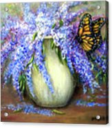Monarch Of The Lilacs Acrylic Print