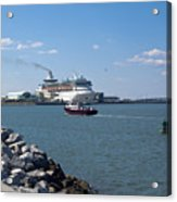 Monarch Of The Seas At Port Canaveral In Florida Acrylic Print