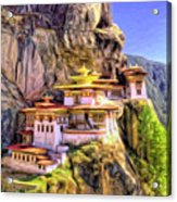 Monastery In Bhutan Acrylic Print
