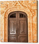 Monastery Of Jeronimos Door Acrylic Print
