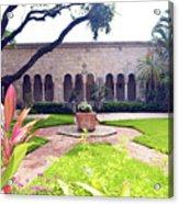 Monastery Of St. Bernard De Clairvaux Garden Acrylic Print
