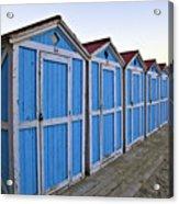 Mondello Beach Cabanas Acrylic Print