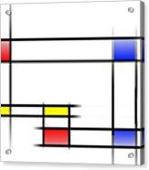Mondrian In Motion 2 Acrylic Print
