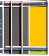 Mondrian Style Acrylic Print