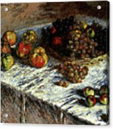 Monet Claude Still Life Apples And Grapes Acrylic Print