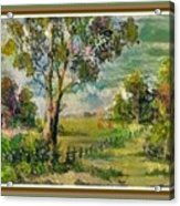 Monetcalia Catus 1 No. 3 Landscape Scene Near Fontainebleau L B With Alt. Decorative Printed Frame. Acrylic Print