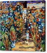 Monets Flower Garden Acrylic Print