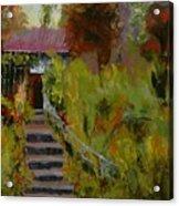 Monet's Garden Cottage Acrylic Print