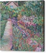 Monet's Gardens Acrylic Print