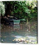 Monets Rowboats Acrylic Print