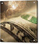 Money With Bokeh Acrylic Print