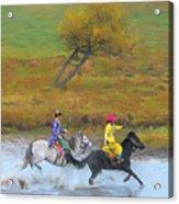 Mongolian Rider Acrylic Print