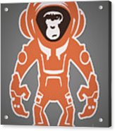 Monkey Crisis On Mars Acrylic Print