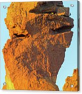 Monkey Face Pillar At Smith Rock Closeup Acrylic Print