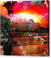 www.nospankingthemonkey.com Monkey Painted Italy On A Moon Lit Night Acrylic Print