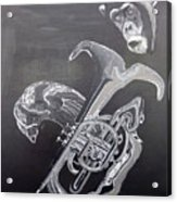 Monkey Playing Tuba Acrylic Print