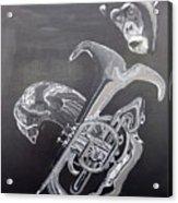Monkey Playing Tuba Acrylic Print