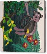 Monkey Swing And Snack Acrylic Print