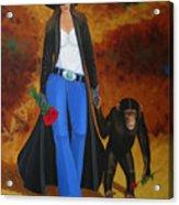 Monkeys Best Friend Acrylic Print by Lance Headlee