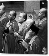Monks Chanting - Jing'an Temple Shanghai Acrylic Print