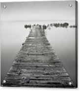 Mono Jetty With Sandals Acrylic Print by Billy Currie Photography
