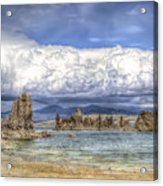 Mono Lake Tufas And Clouds Acrylic Print