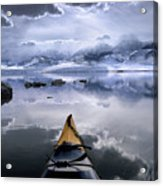 Mono Lake Winter Kayak Acrylic Print by Buck Forester