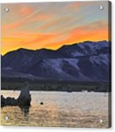 Mono Sunset Acrylic Print