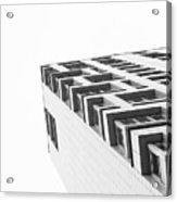 Monochrome Building Abstract 4 Acrylic Print
