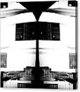 Monochrome Building Symmetry Abstract Acrylic Print
