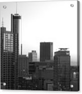 Monochrome City Acrylic Print