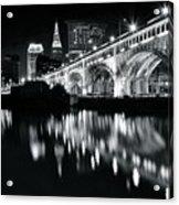 Monochrome Cleveland Acrylic Print