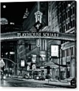 Monochrome Grayscale Palyhouse Square Acrylic Print
