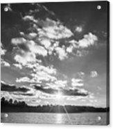 Monochrome Vintage Sunset  Acrylic Print