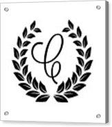 Monogram C Acrylic Print