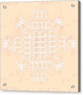 Monogram Qm Ivorypink Acrylic Print