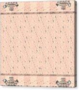 Monogram Qm Stripes Mauvecharcoal 1 Acrylic Print