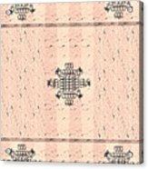 Monogram Qm Stripes Mauvecharcoal 2 Acrylic Print