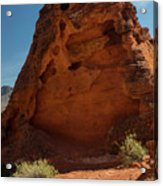 Monolith Sculpture Valley Of Fire Acrylic Print
